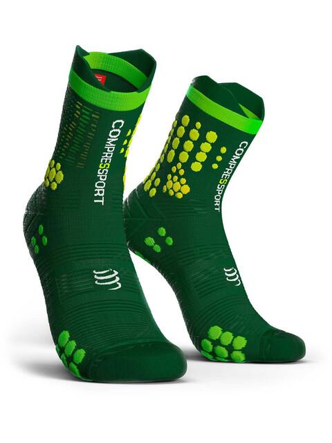 Compressport Pro Racing V3.0 Trail Socks Green/Yellow